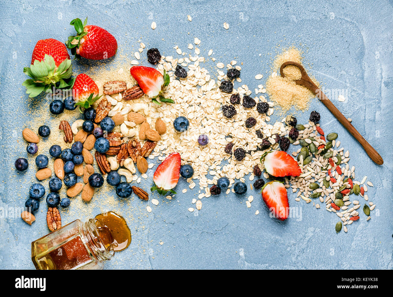 Ingredients for cooking healthy breakfast - Stock Image