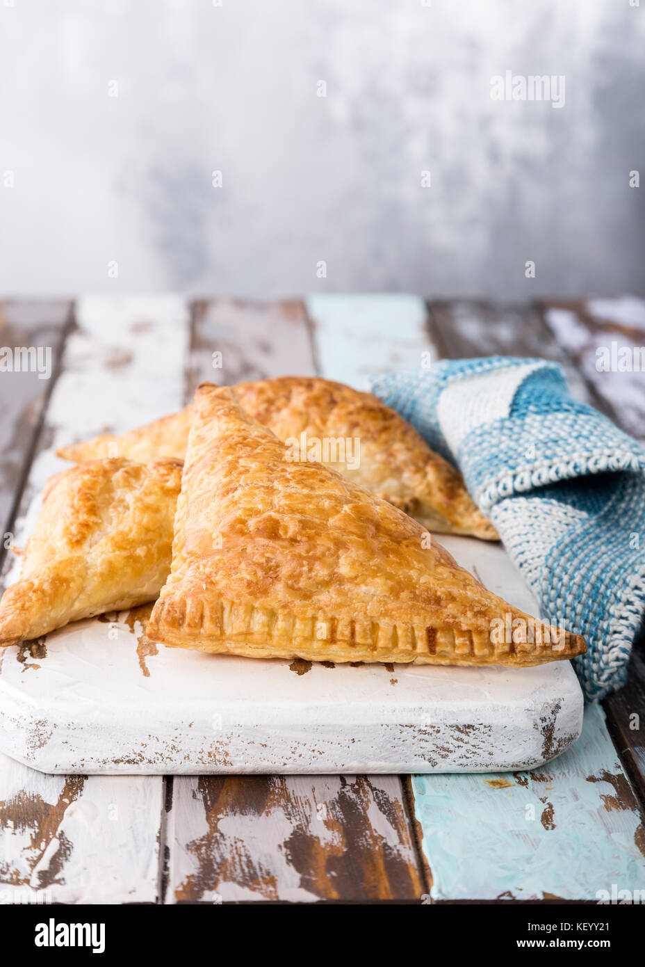 Puff pastry triangles - Stock Image