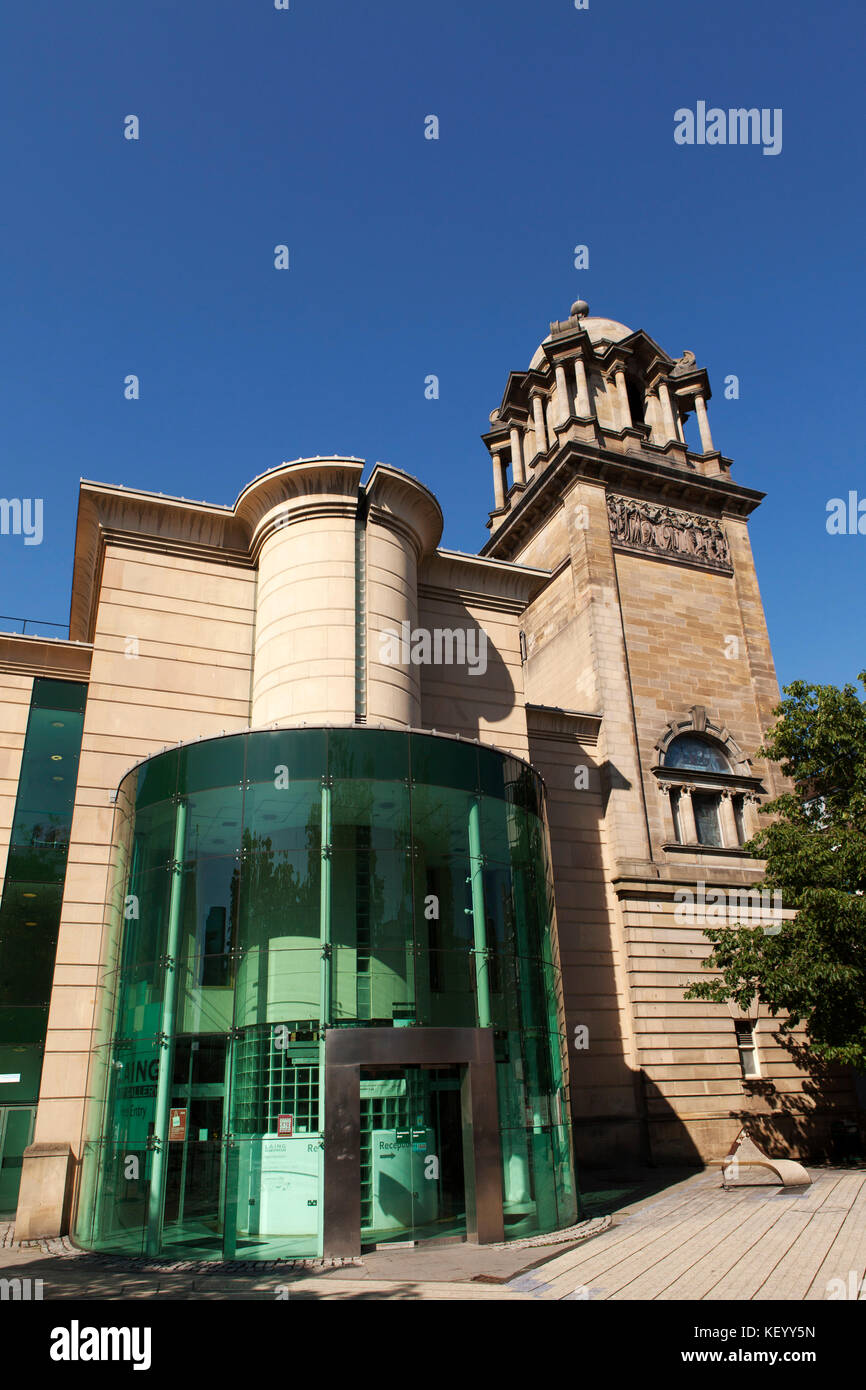 The Laing Art Gallery in Newcastle-upon-Tyne, England. The museum displays artworks and applied art. Stock Photo