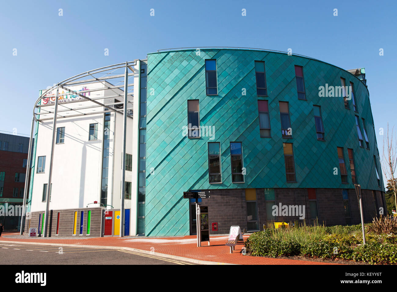 The Great North Children's Hospital in Newcastle-upon-Tyne, England. The hospital is part of Britain's National - Stock Image