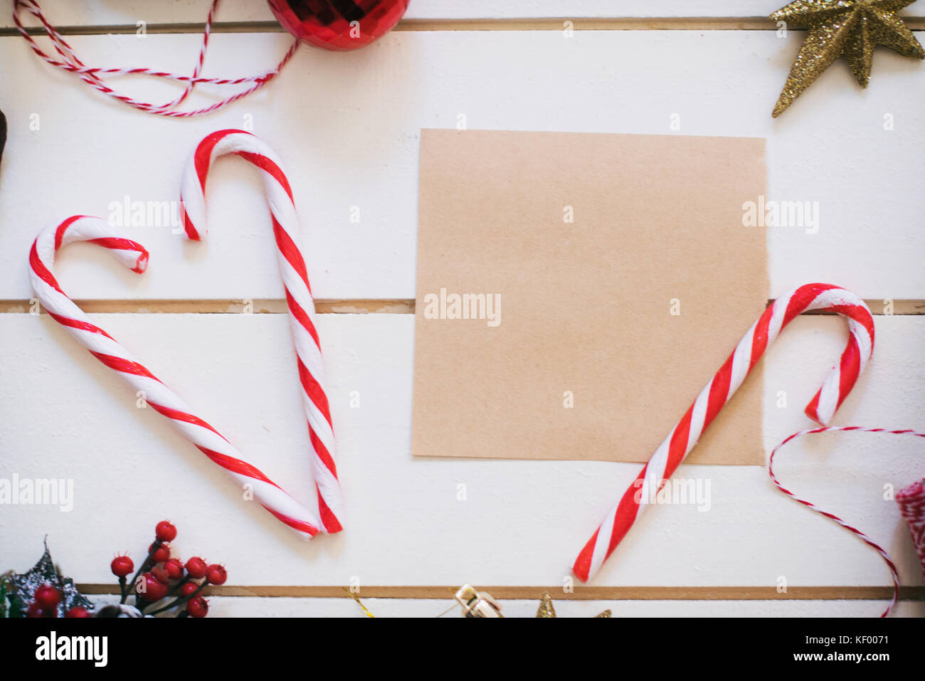 Greeting card for the Christmas holidays Stock Photo