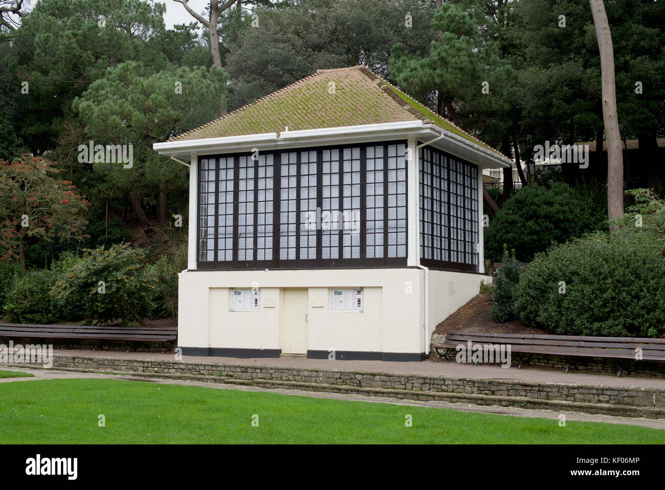 The bandstand in Bournemouth Gardens - Stock Image