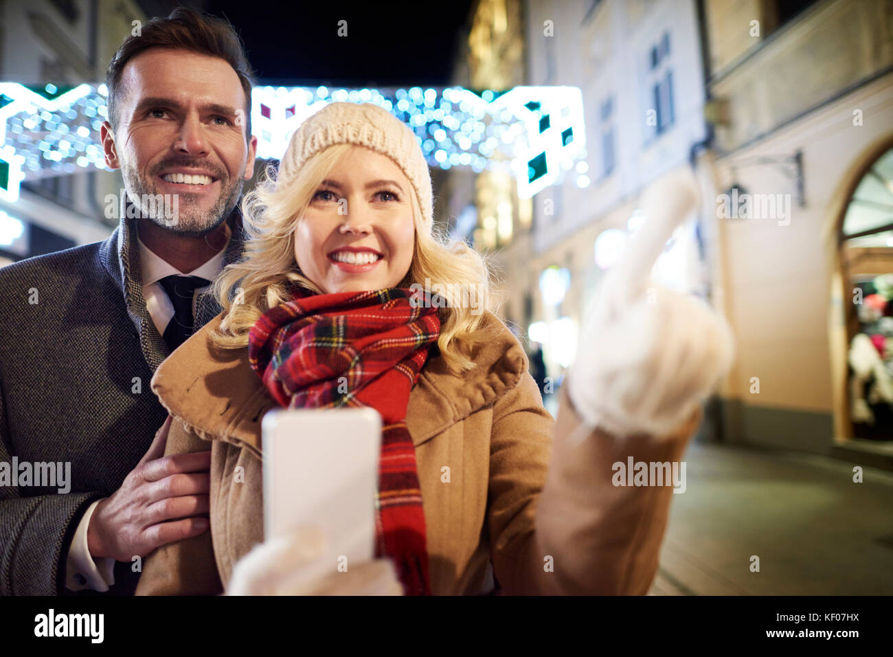 What a wonderful night can be at winter time - Stock Image