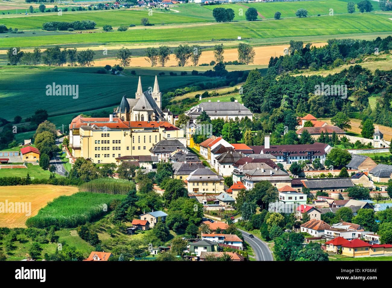 View on Spisske Podhradie town from Spis Castle, Presov