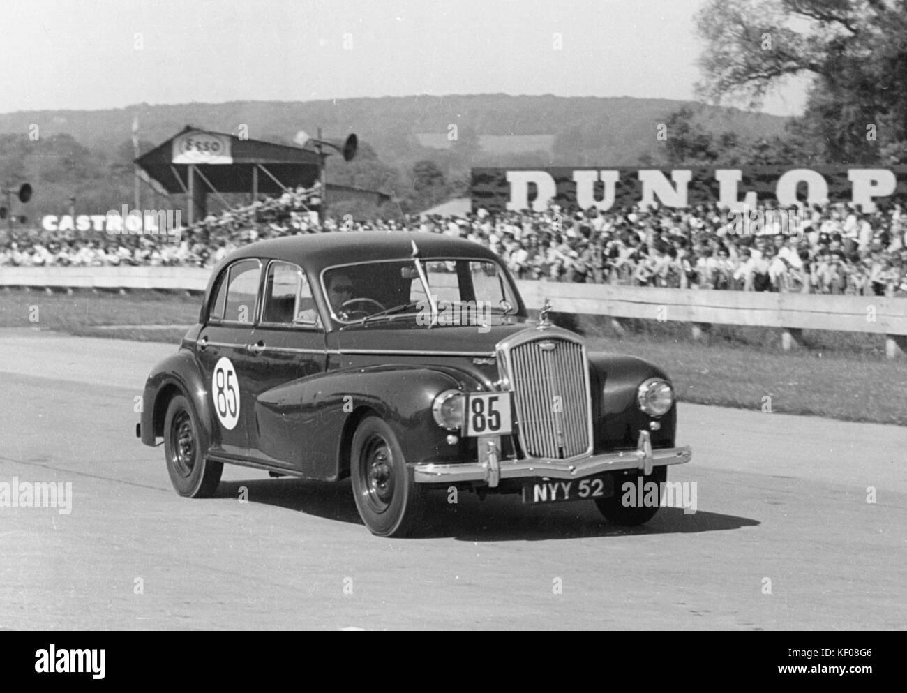 1953 Wolseley 6-80 at Goodwood - Stock Image