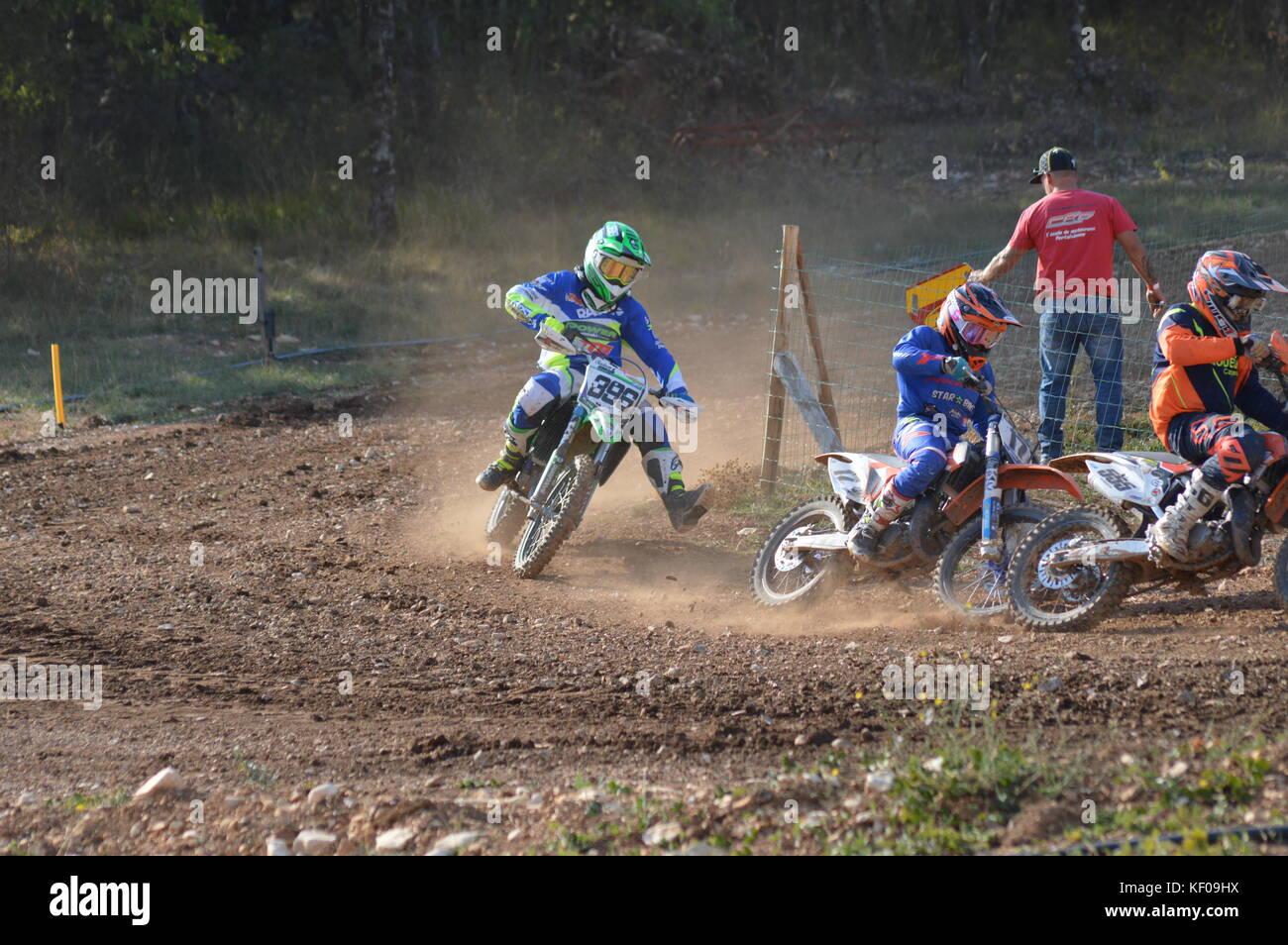 A Motocross race in Saint Christol 23 at 24 september 2017 (south of france) - Stock Image