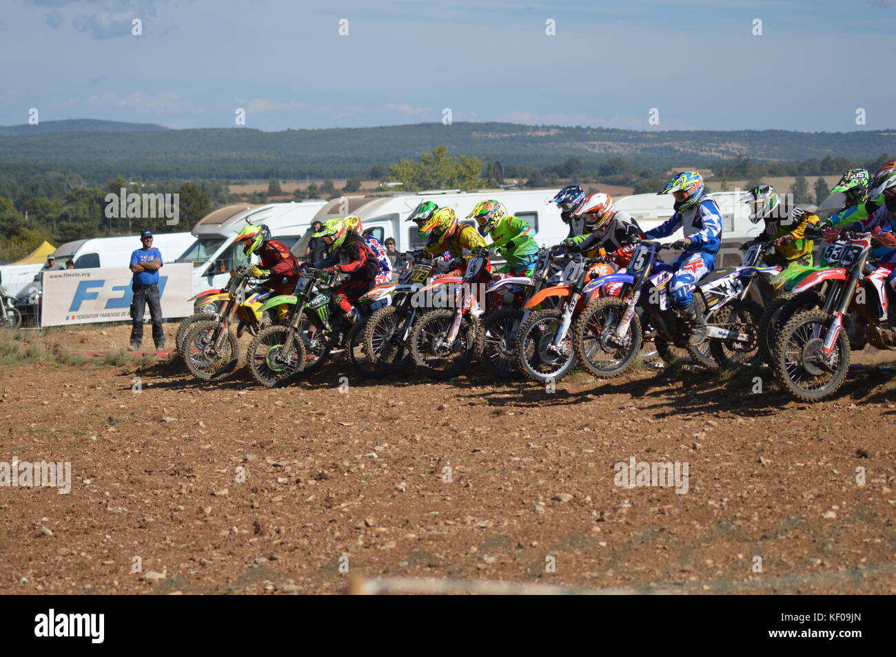 A Motocross race in Saint Christol 23 at 24 september 2017 (south of france) - Stock Image