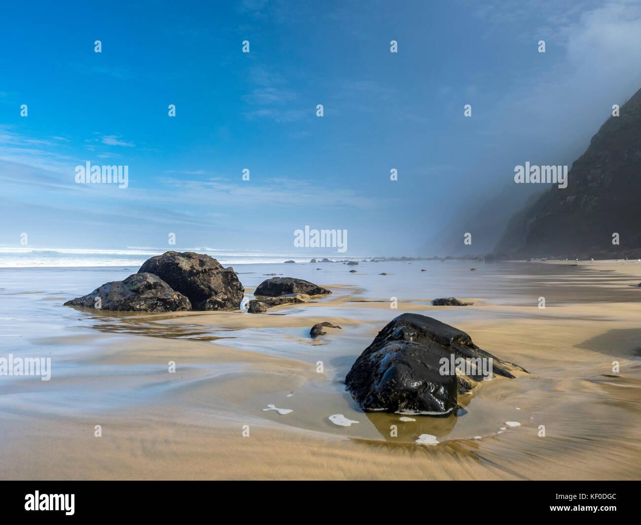 New Zealand, North Island, view to Maunganui Bluff Beach - Stock Image