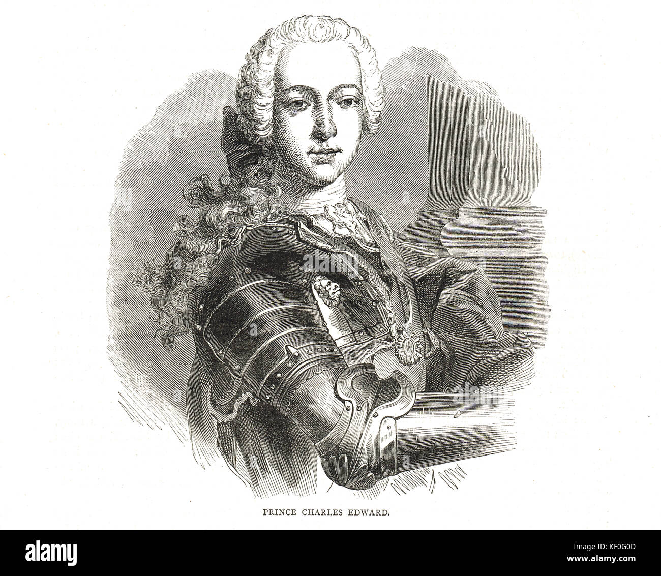 Charles Edward Stuart, The Young Pretender, AKA Bonnie Prince Charlie - Stock Image