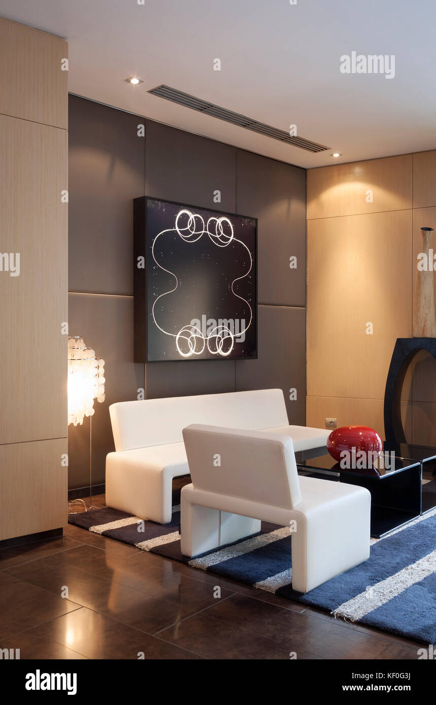 Lobby Entrance Of A Contemporary Hotel In Milan Italy Stock Photo
