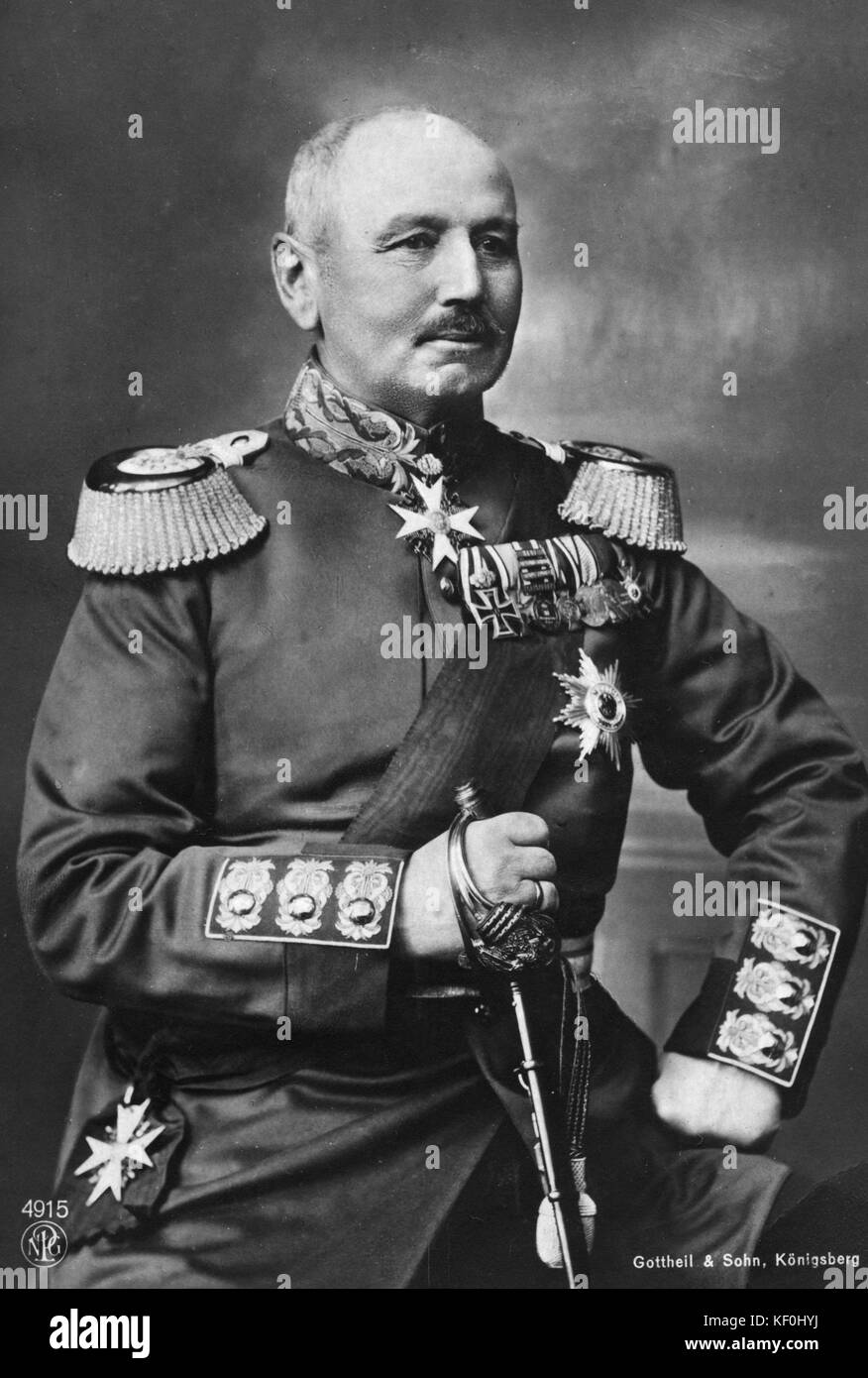 General Alexander von Kluck (20 May 1846 – 19 October 1934). Saw service during the Austro-Prussian War of 1866 - Stock Image