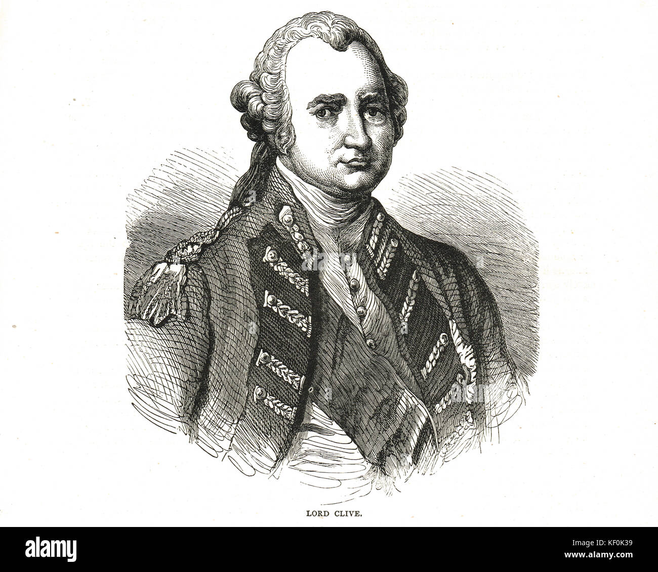 Clive of India, Major-General Robert Clive, 1st Baron Clive, KB, FRS, 1725–1774 - Stock Image
