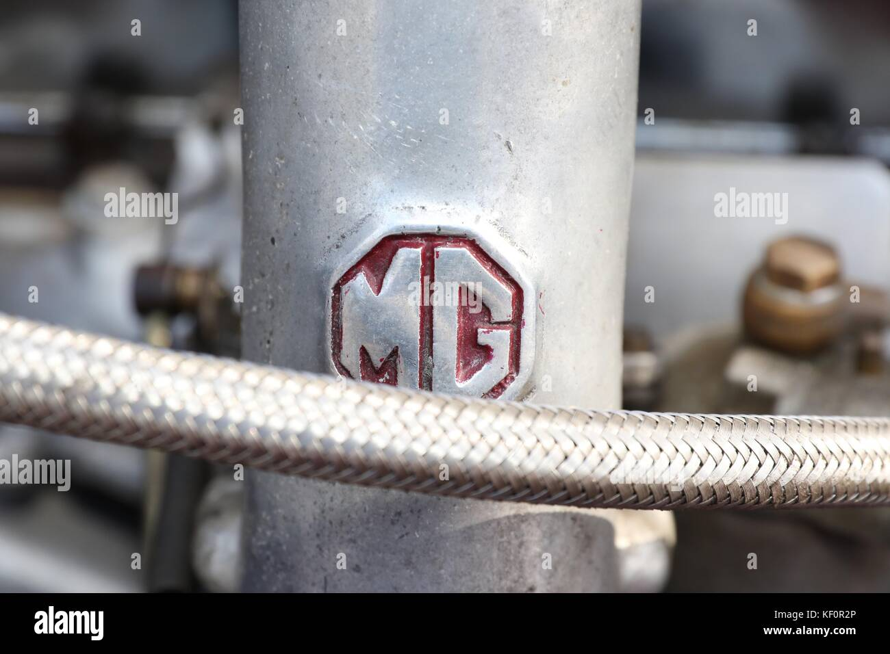 1953 MG YB 1.25 XPAG Engine  Picture by Antony Thompson - Stock Image