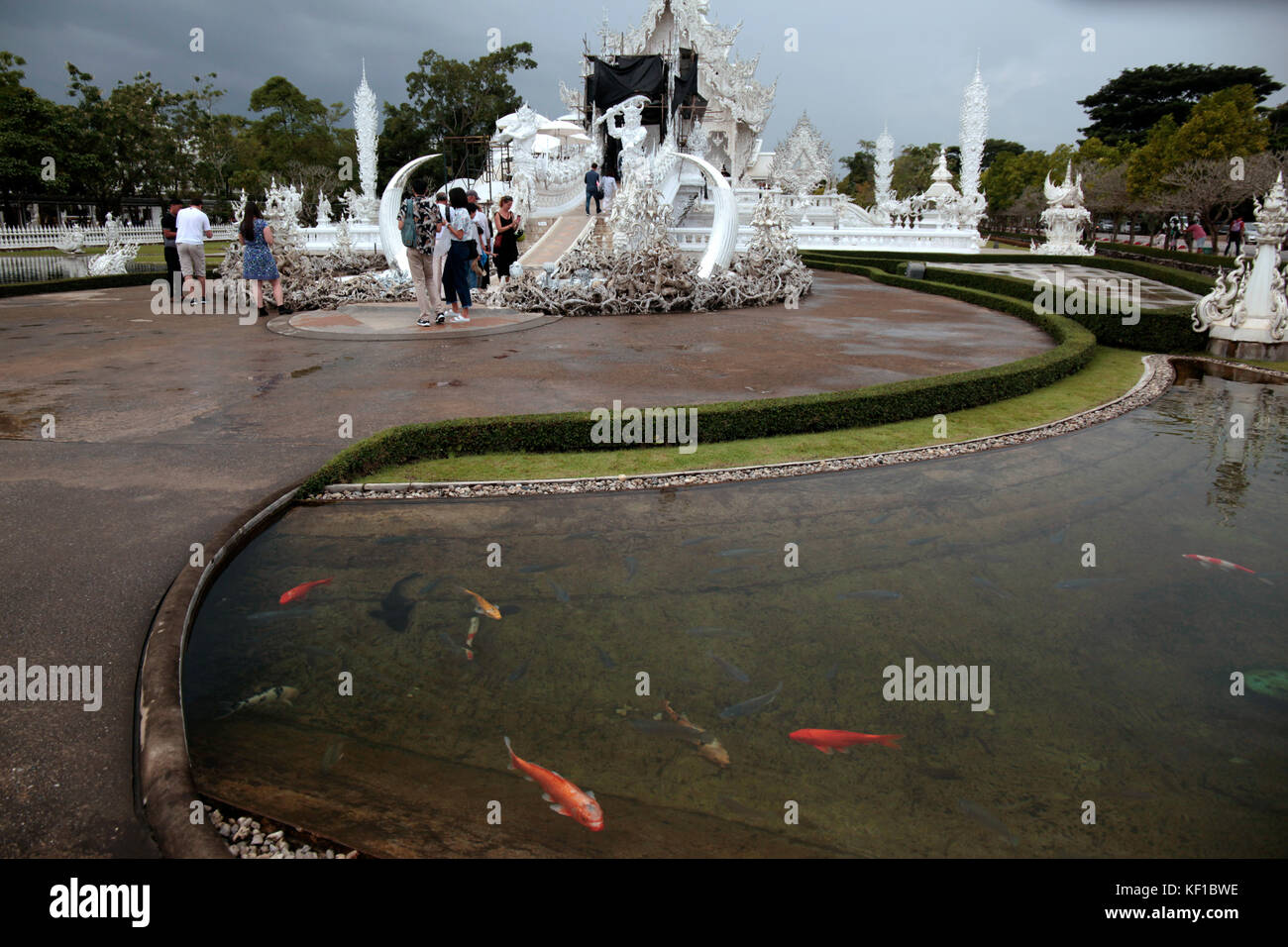 Chiang Rai, Thaliand. 25th Oct, 2017. Preparations are under way to celebrate the royal cremation ceremony of His - Stock Image