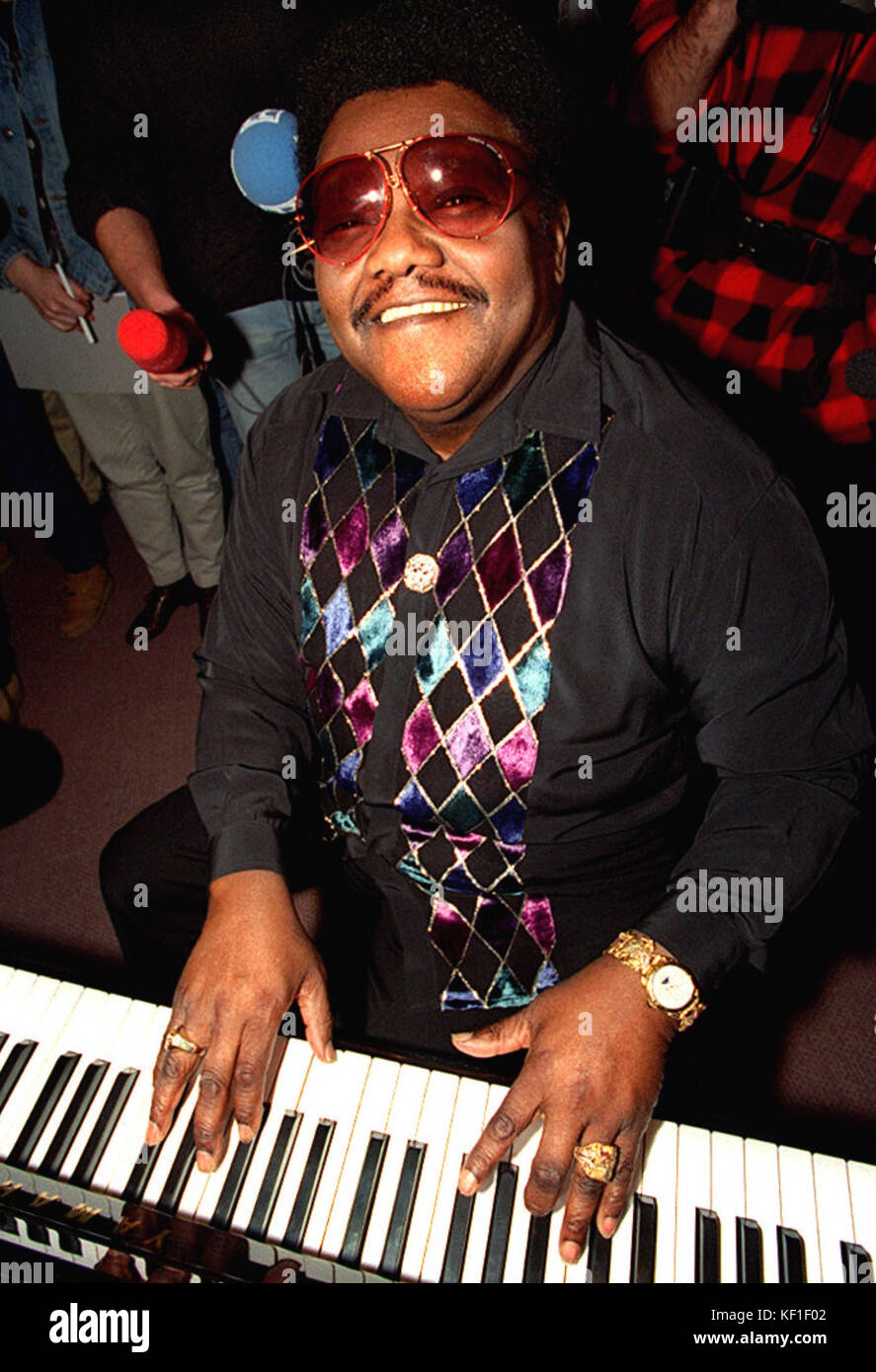 Munich, Germany. 21st Feb, 2013. (dpa FILE) - An undated archive picture shows US musician Fats Domino playing the - Stock Image