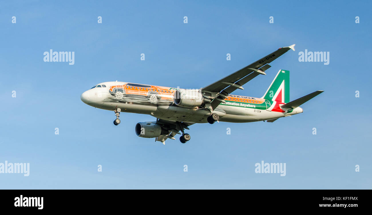 On October 25th, 2017, Cerberus Capital Management, the US private equity group, approached Alitalia about a bid - Stock Image