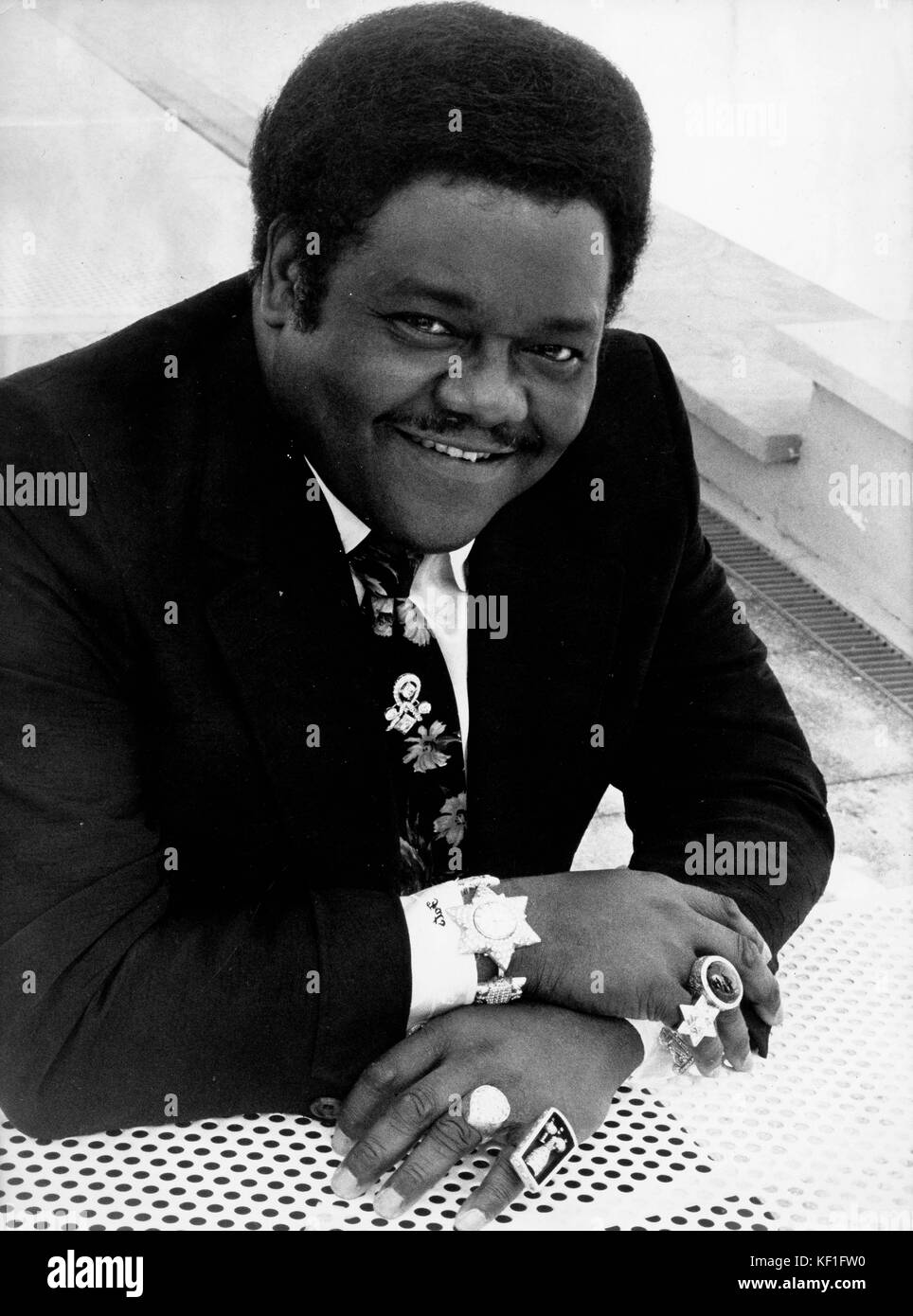 October 25, 2017 - FATS DOMINO, one of the most influential rock and roll performers of the 1950s and 60s, dies - Stock Image