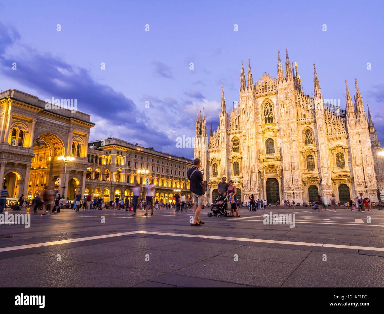 MILAN, ITALY – AUGUST 09,2017: Milan Cathedral, Duomo di Milano, by night. - Stock Image