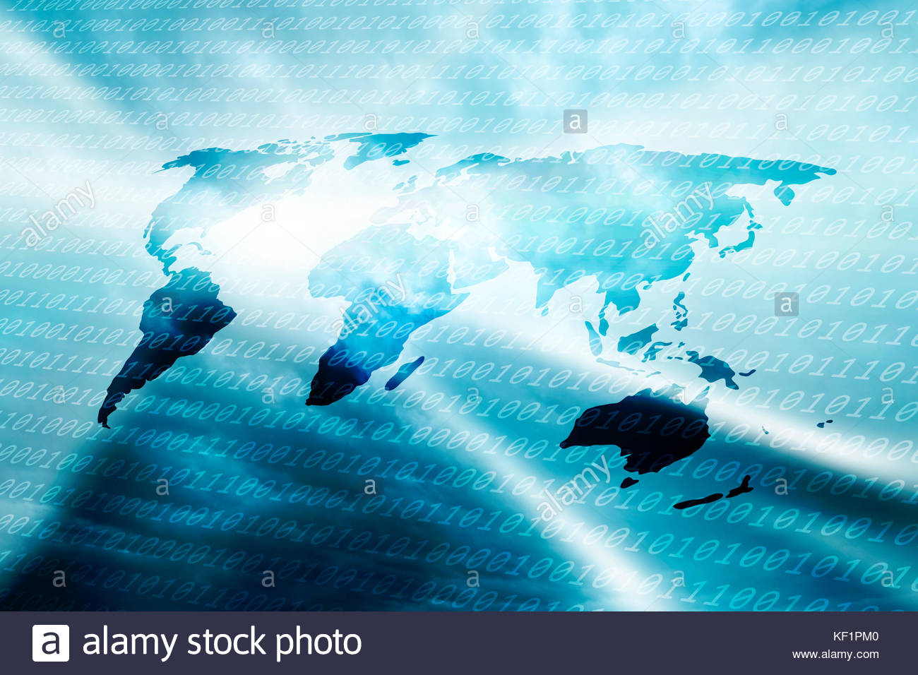 Dark blue tech background world stock photos dark blue tech abstract dark blue world map binary numbers stock image gumiabroncs Gallery