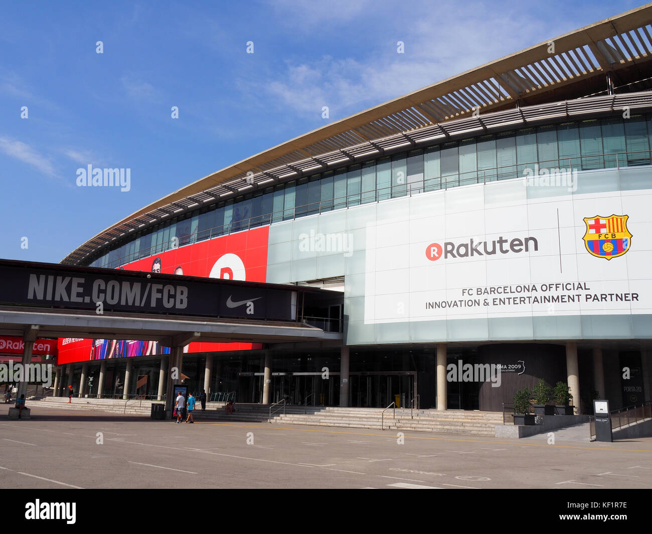 View of the exterior of Camp Nou stadium in Barcelona, Spain - Stock Image