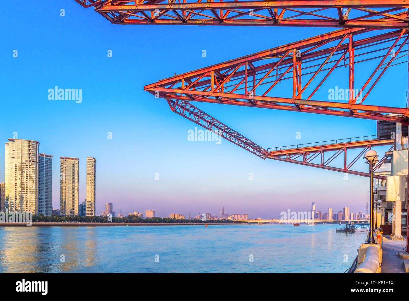 Guangzhou Pearl River scenery - Stock Image