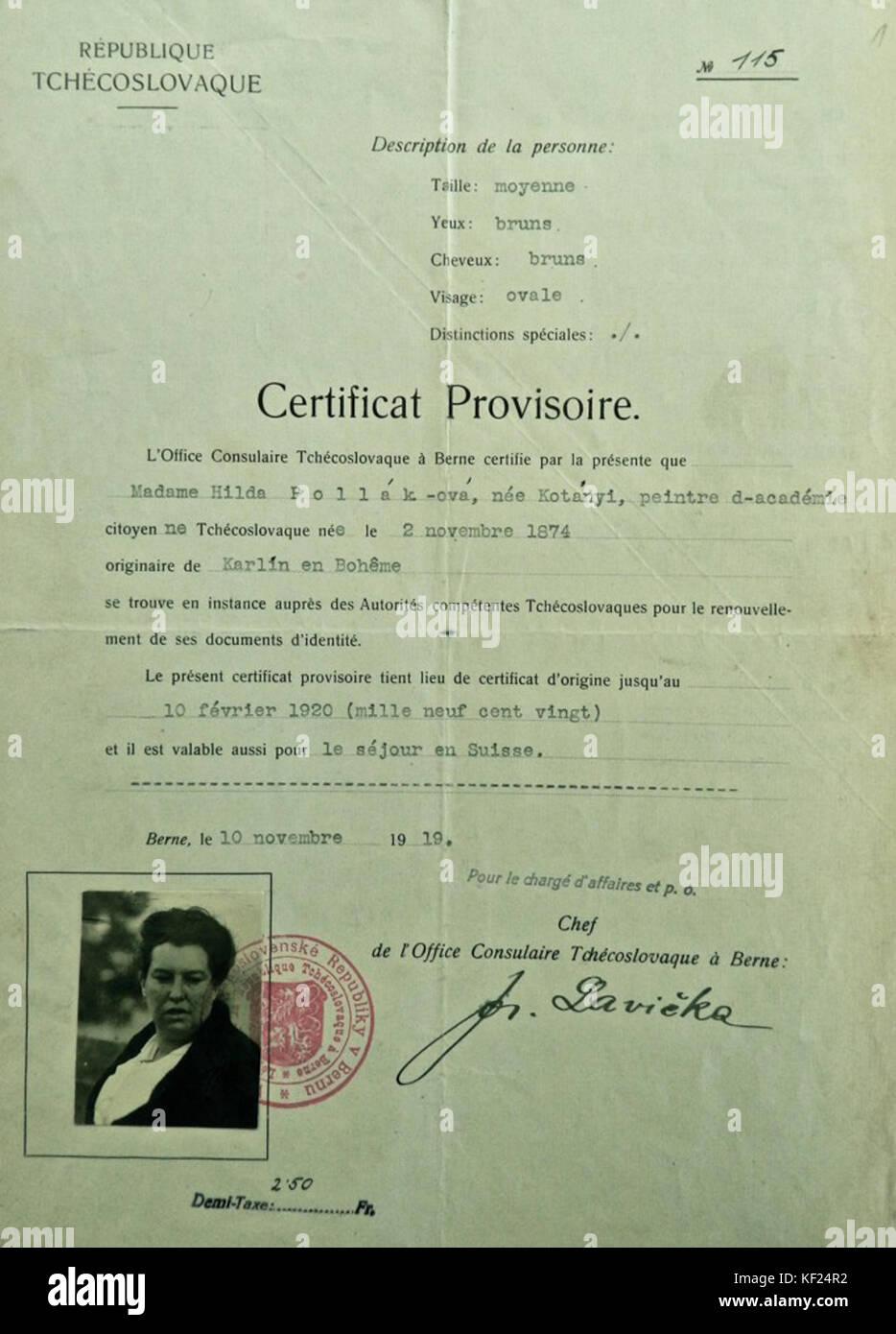 certificat provisoire ceam