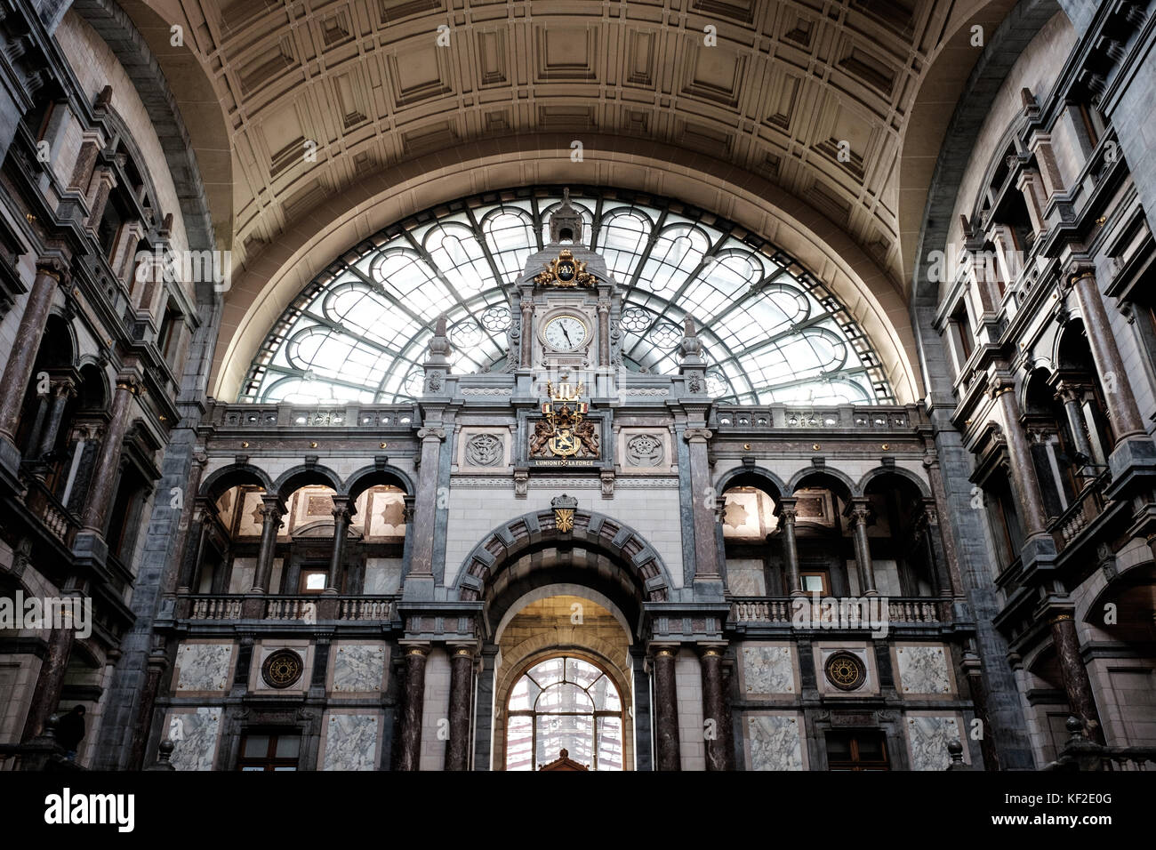 The Interior Of Antwerpen Centraal Railway Station Antwerp Central Stock Photo Alamy