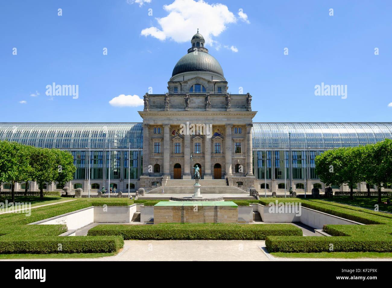 Bayerische Staatskanzlei am Hofgarten, Altstadt, München, Oberbayern, Bayern, Deutschland - Stock Image