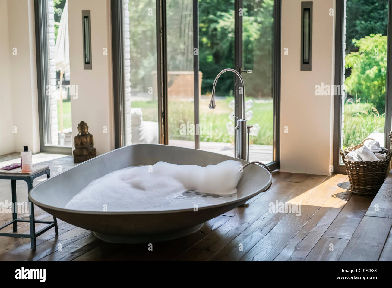 Interior Of A Luxurious Bath Room In A Country House Stock Photo
