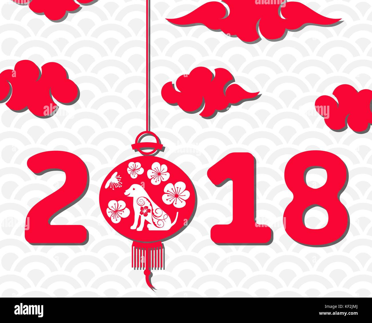 happy chinese new year 2018 card year of dog asian banner