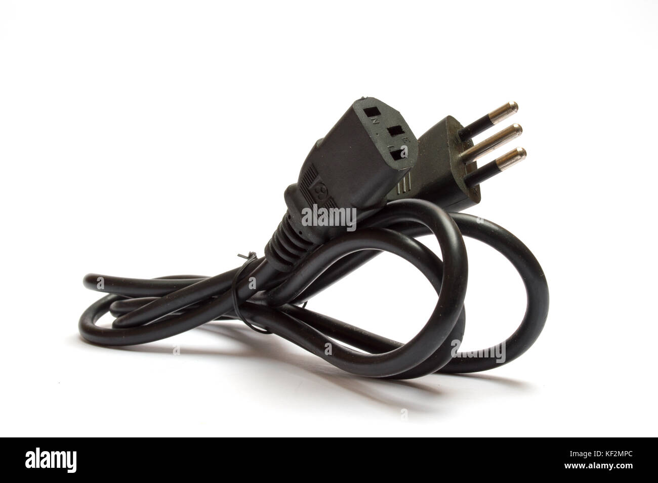 Electrical plug on white background Stock Photo