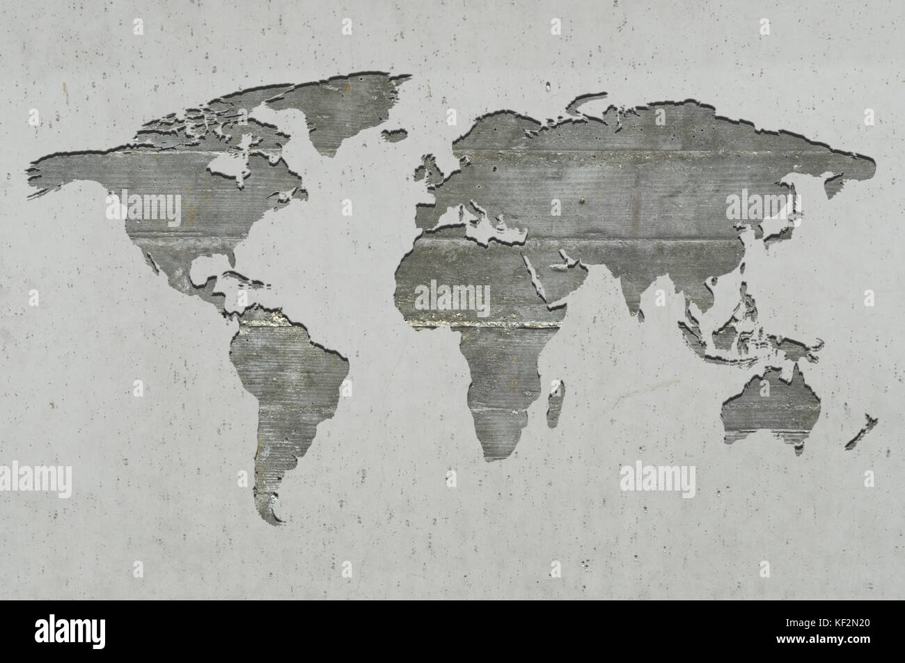 World map on concrete stock photos world map on concrete stock world map on reinforced concrete stock image gumiabroncs Images