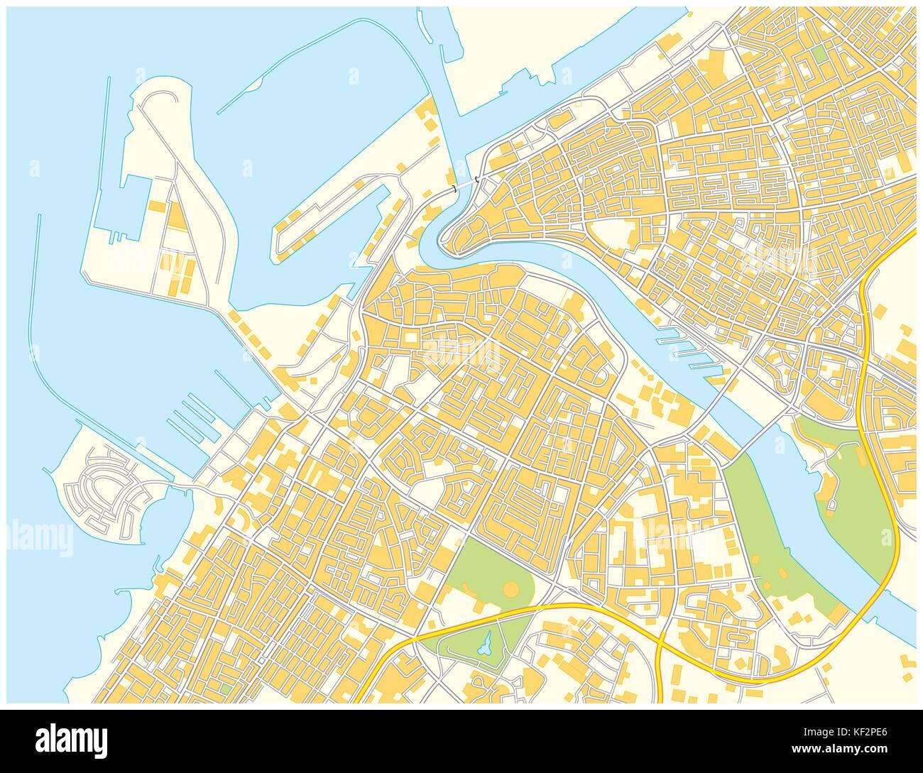 dubai city map stock image