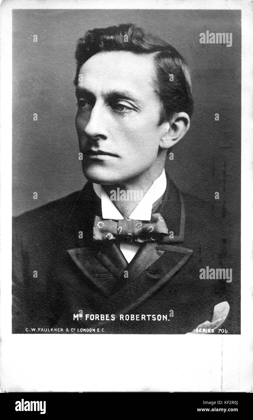 Johnston Forbes-Robertson , English actor and theatre manager.  16 January , 1853 – 6 November  1937. - Stock Image