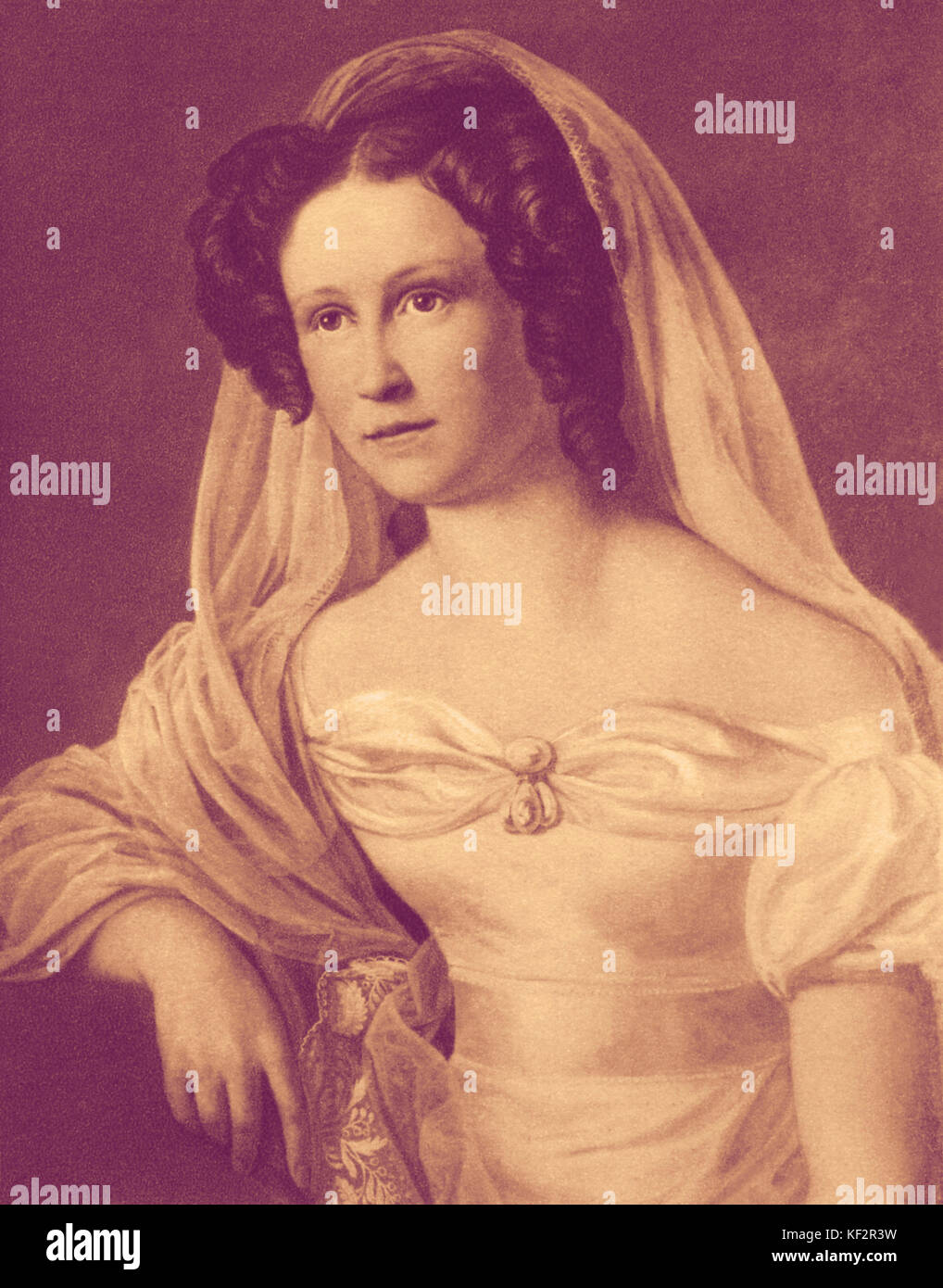 Rosalie Wagner, actress and sister of Richard Wagner. She was the first actress to play Gretchen in Goethe's - Stock Image