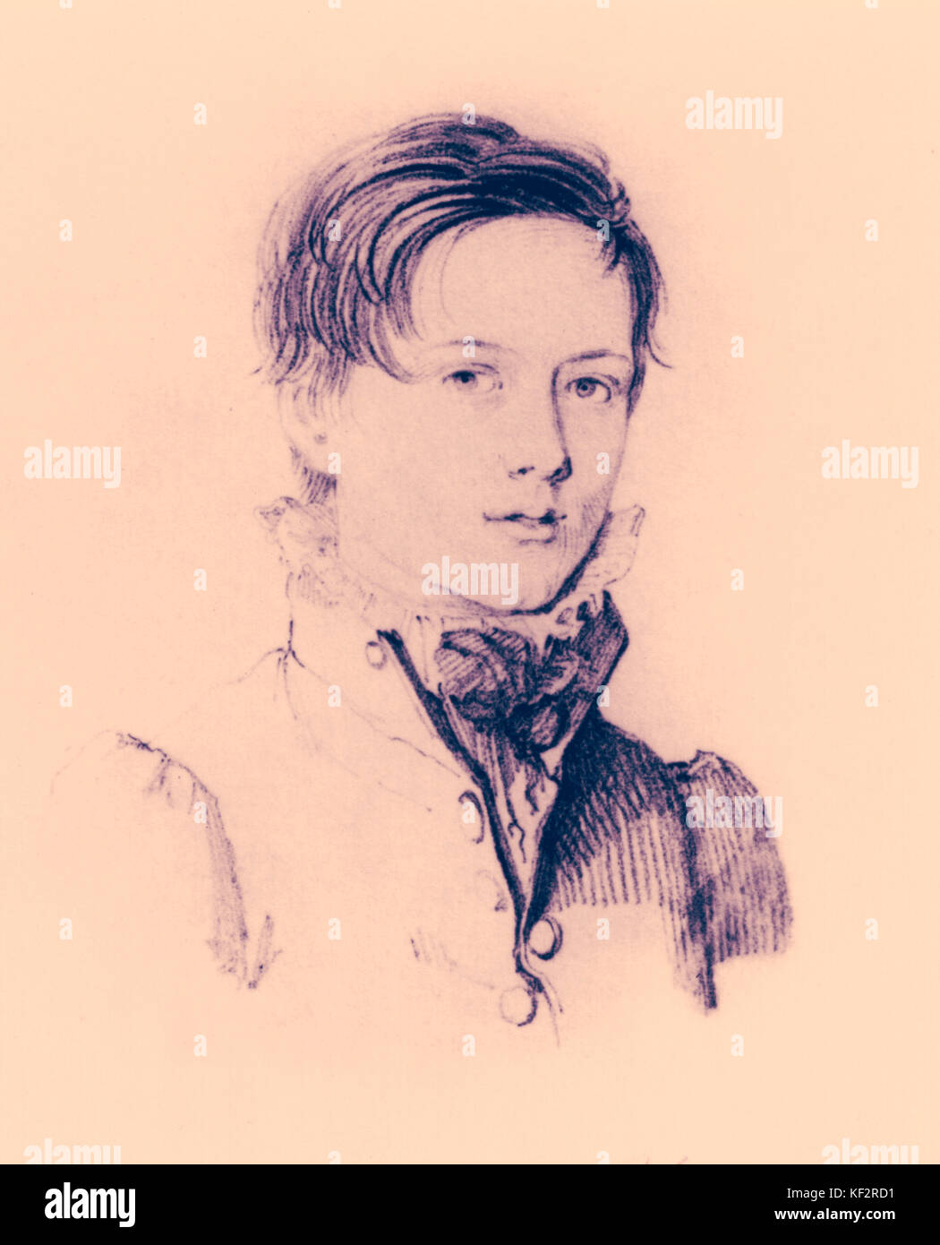 STERNDALE BENNETT, William - age 13 English pianist and composer (1816-1875). by Petrucci COURTESY OF B STERNDALE - Stock Image