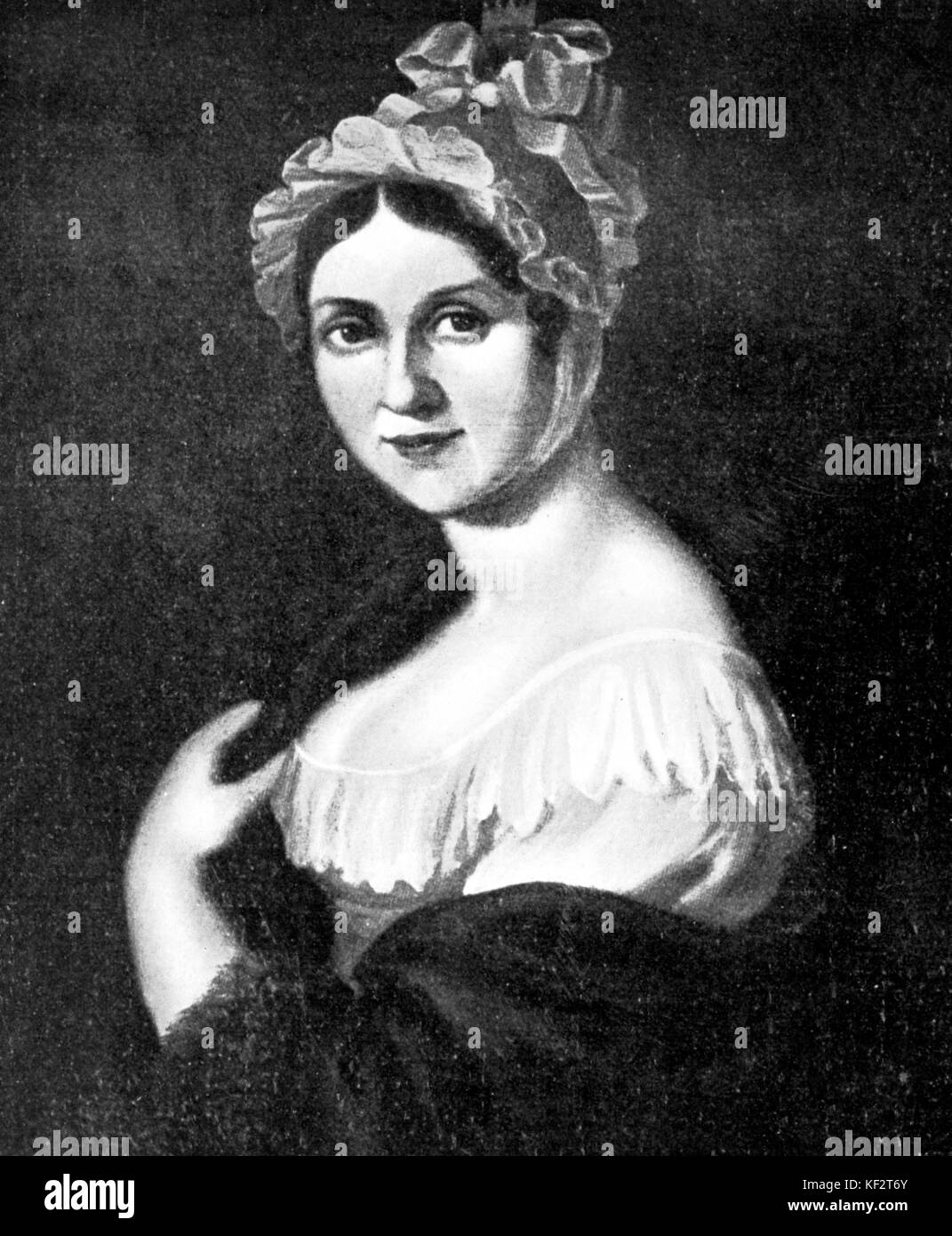 Richard Wagner 's mother Johanna Rosine (formerly Bertz) . RW:German composer & author, 1813-1883 - Stock Image
