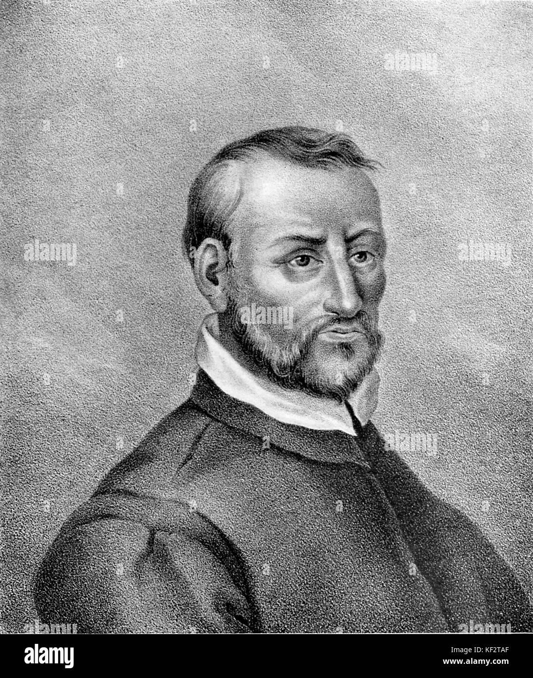 Giovanni Palestrina -  portrait. Italian composer, c.1525 - 2 February 1594. Stock Photo