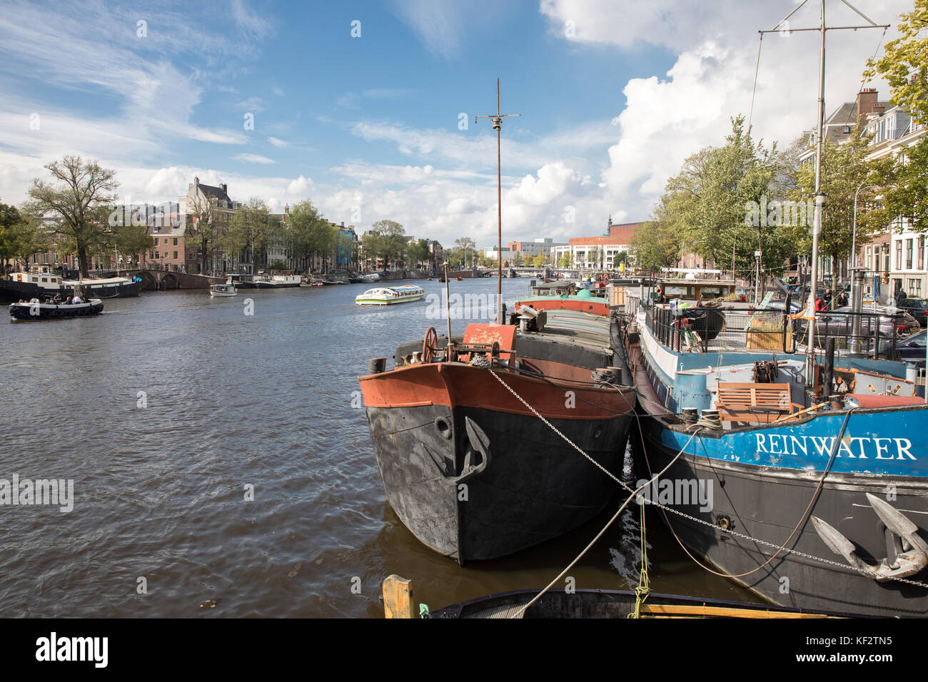 The canals of Amsterdam, Netherlands - Stock Image