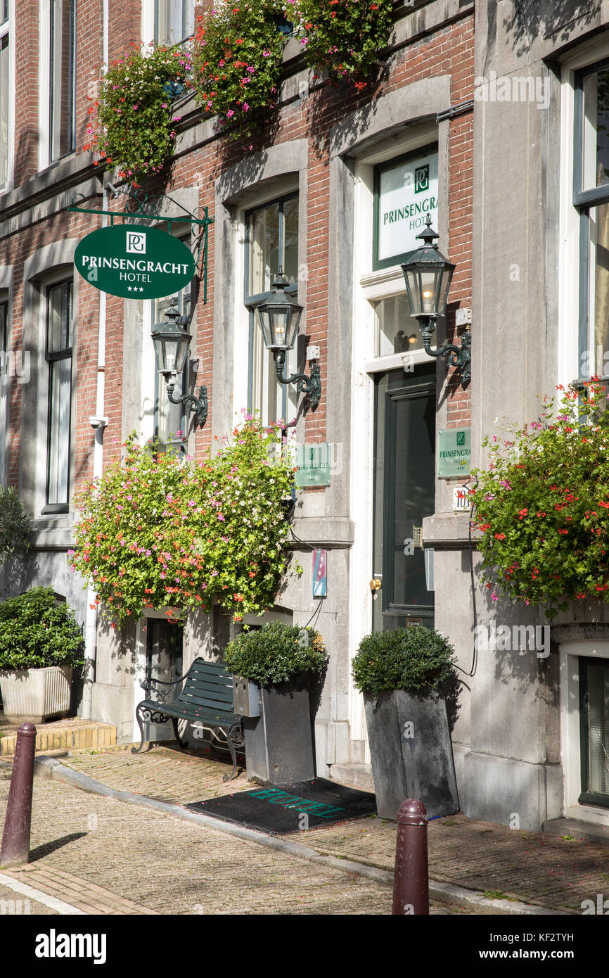 The  Prinsengracht hotel, Amsterdam, Netherlands Stock Photo