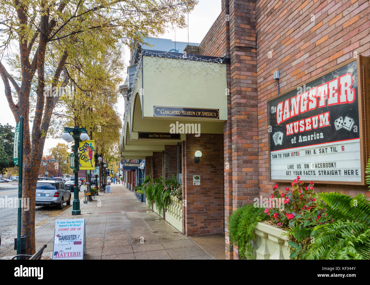 The Gangster Museum of America on Central Avenue ('Bathhouse Row')in downtown Hot Springs, Arkansas, USA - Stock Image