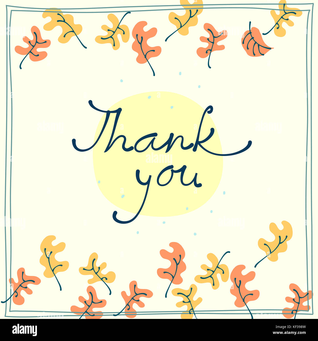 Thank you card design template simple greeting card with falling thank you card design template simple greeting card with falling leaves thanksgiving symbol sign m4hsunfo