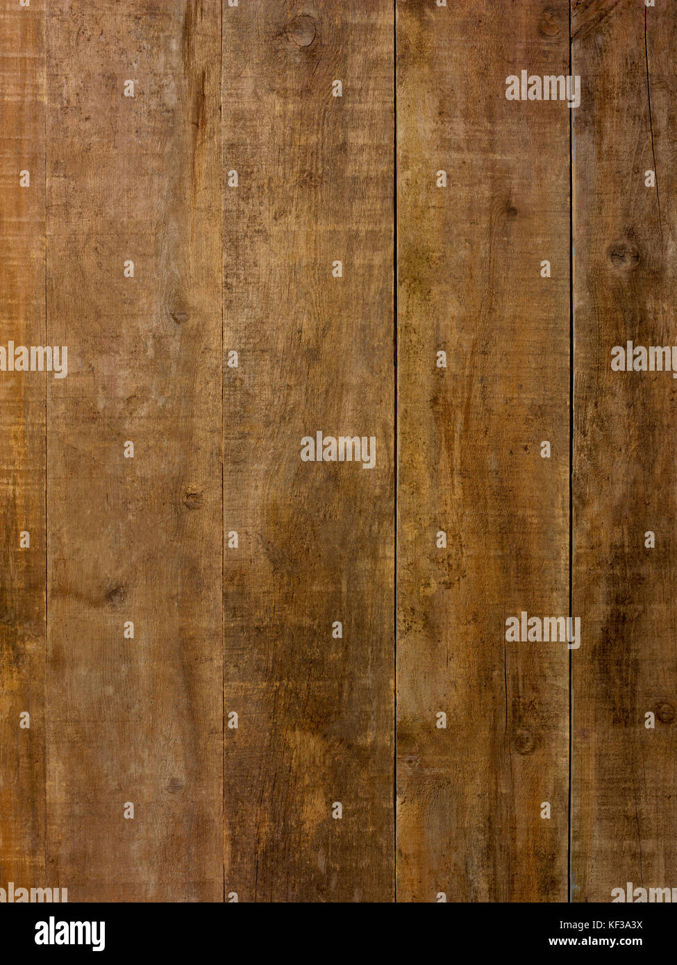 Rough brown wood plank  foor or wall background - Stock Image