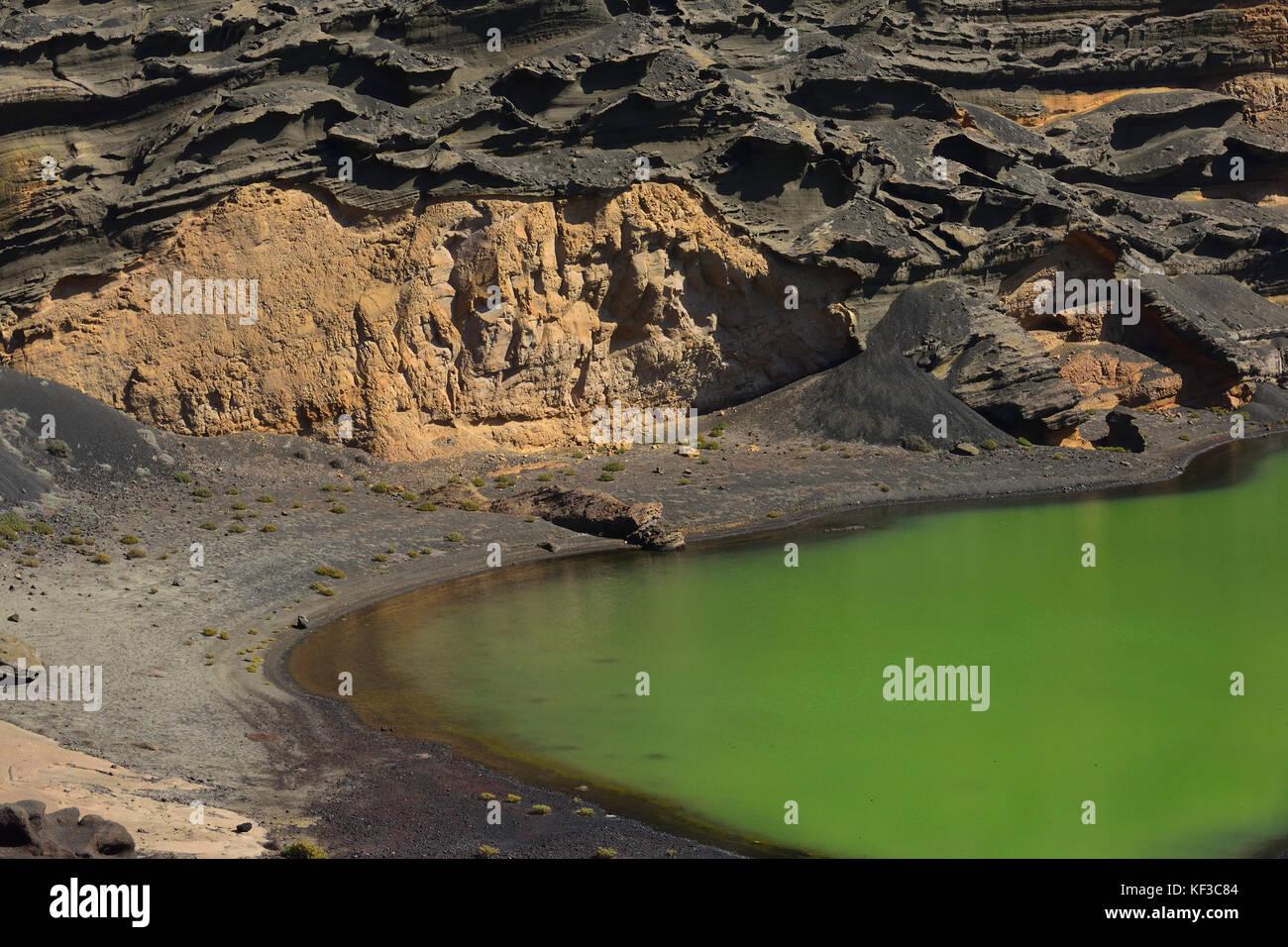 El Golfo volcanic crater, Lanzarote, Europe Stock Photo