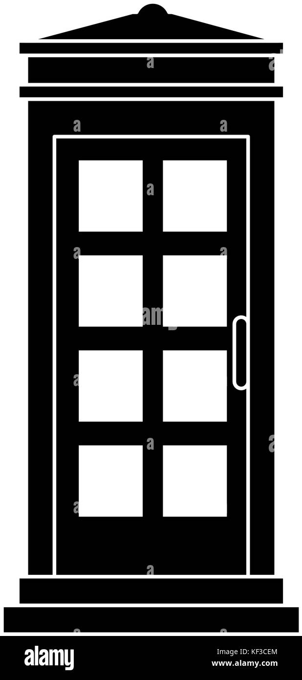 phone booth isolated icon vector illustration design - Stock Image