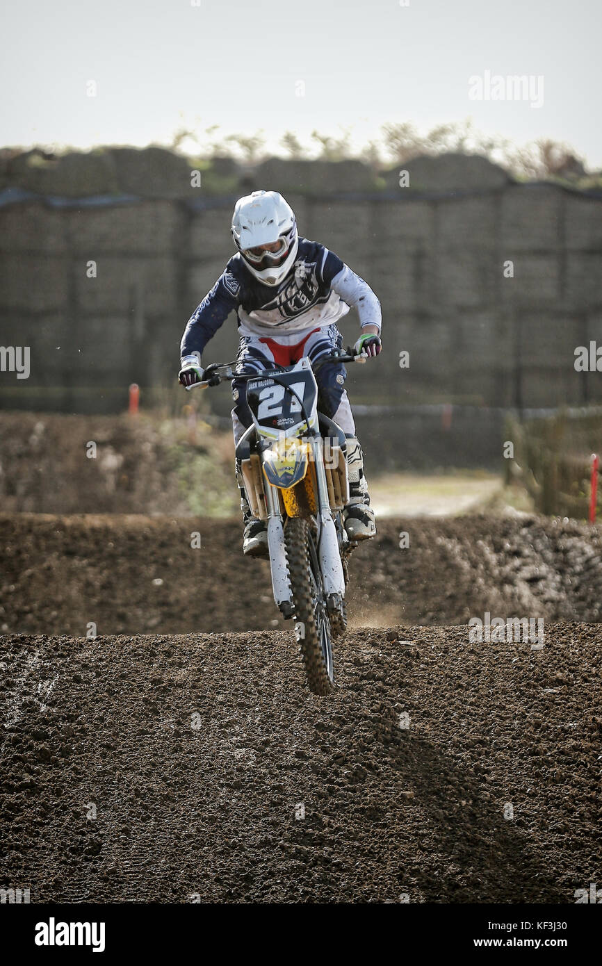Yamaha YZ250f at Washbrook Farm MX Motocross Bike Extreme - Stock Image