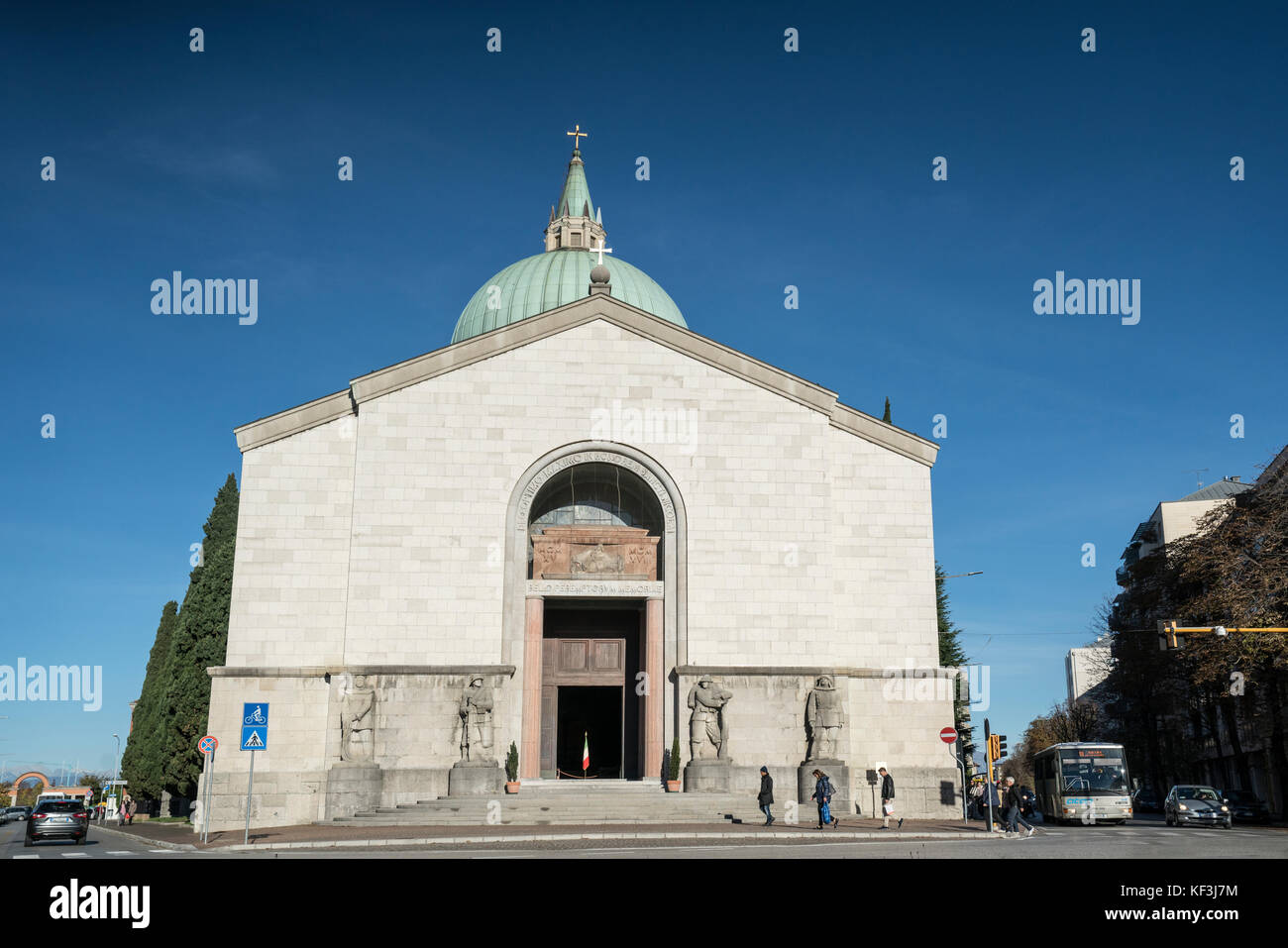the ossuary temple in Udine - Stock Image
