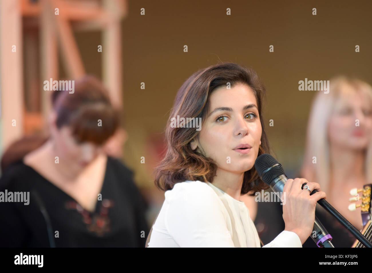 Frankfurt, Germany. 15th Oct, 2017. Katie Melua (*1984),  Georgian-British singer, songwriter and musician, performing - Stock Image