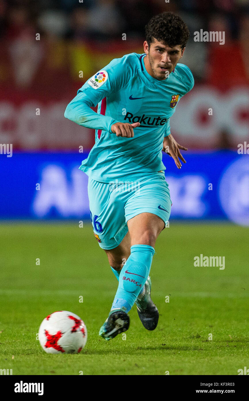 During the Spanish Copa del Rey (King's Cup) round of 32 first leg football match between Real Murcia and FC - Stock Image