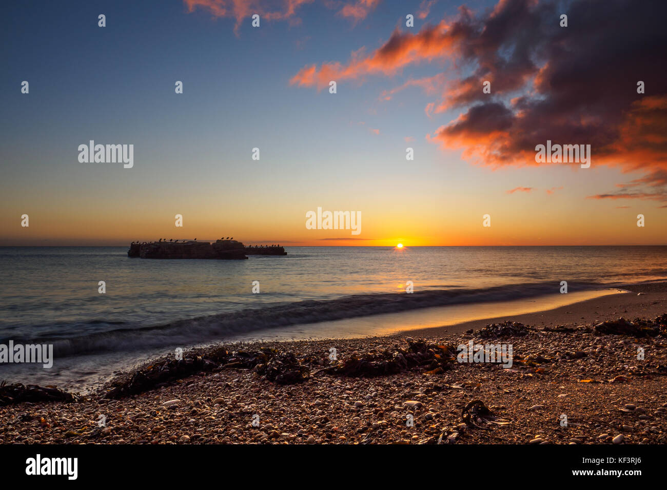 I always regard this beach as one of my favourite places in Whitburn, but to see it at sunrise, well that's - Stock Image